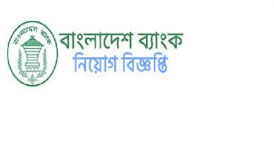 বাংলাদেশ ব্যাংকে নিয়োগ বিজ্ঞপ্তি